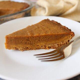 Pumpkin Pie With Almond Milk