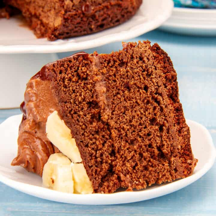 Chocolate Cake With Banana Frosting