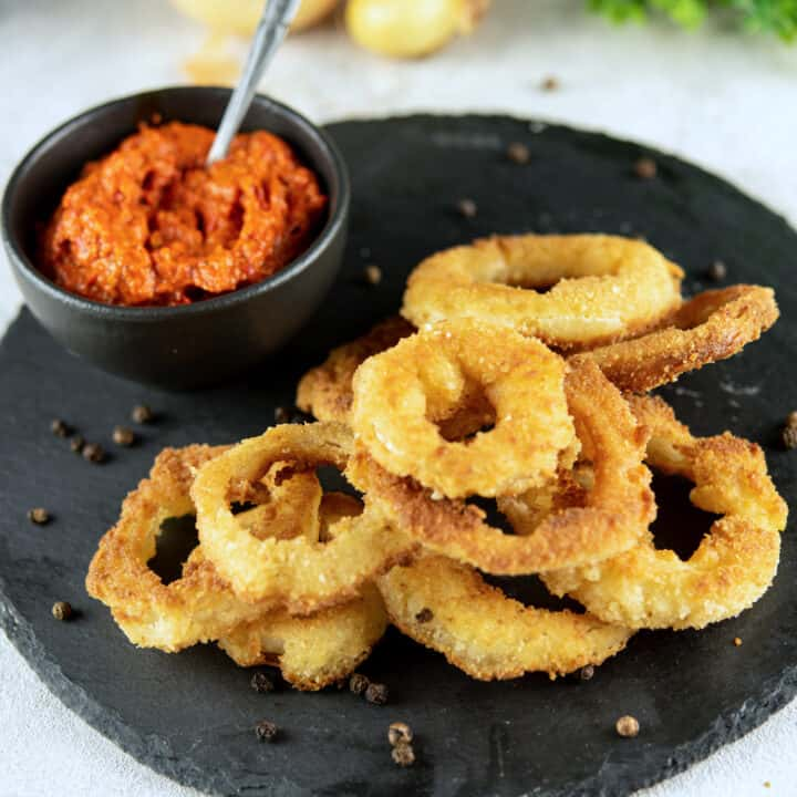 Onion Rings Without Eggs