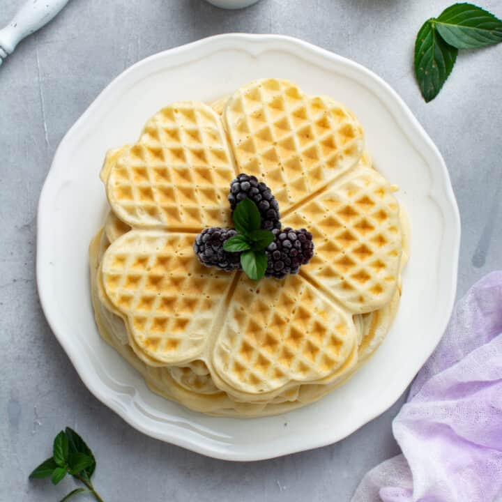 Waffles Without Milk