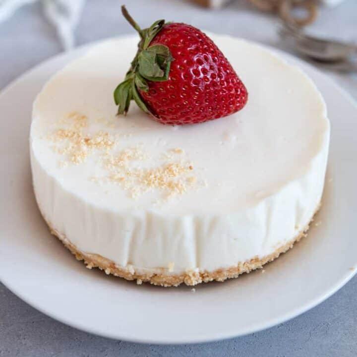 No Bake Ricotta Cheesecake